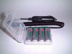 +αとなる電池とシガーライターケーブル