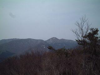 南の山を望む